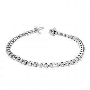 Zelle Diamond Bracelet in White Gold - madeinUSAdiamonds