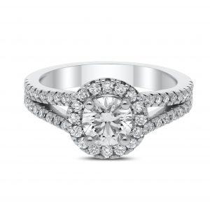 Leya Diamond Ring in White Gold - madeinUSAdiamonds
