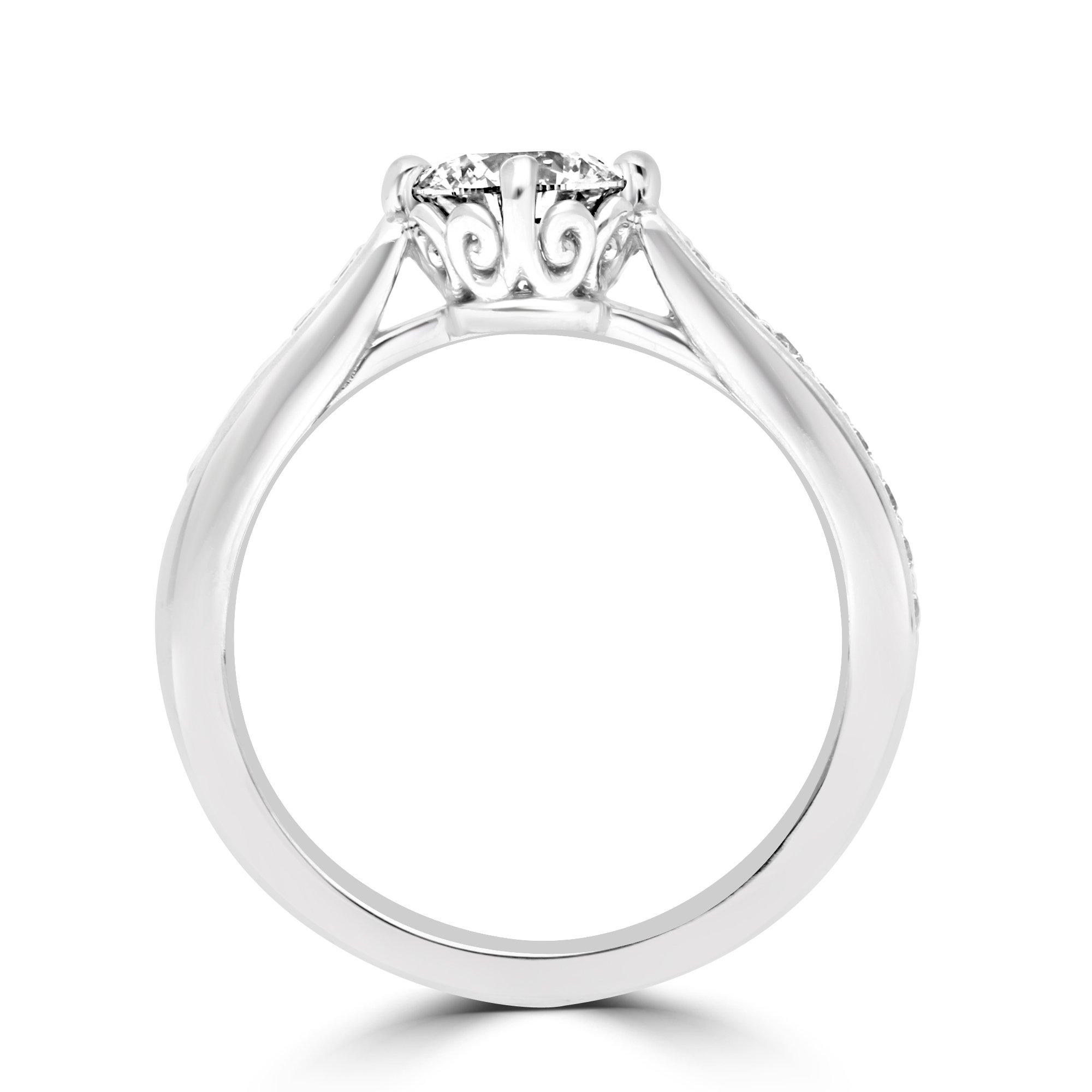 Napa Diamond Ring in White Gold - madeinUSAdiamonds