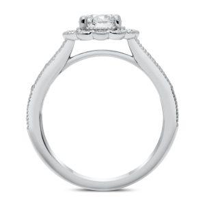 Sardinia Diamond Ring in White Gold - madeinUSAdiamonds