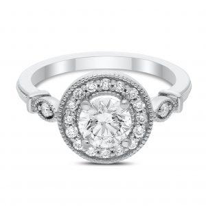 Rimma Diamond Ring in White Gold - madeinUSAdiamonds