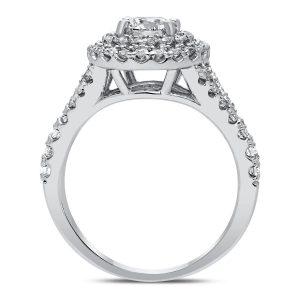 Juna Diamond Ring in White Gold - madeinUSAdiamonds