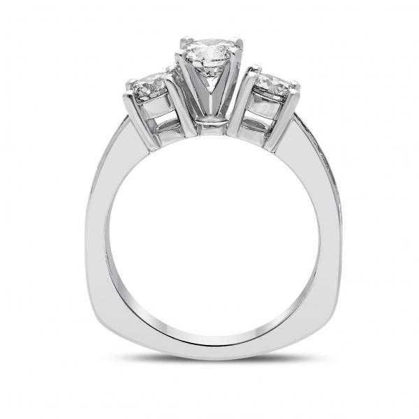 Prana Diamond Ring in White Gold - madeinUSAdiamonds