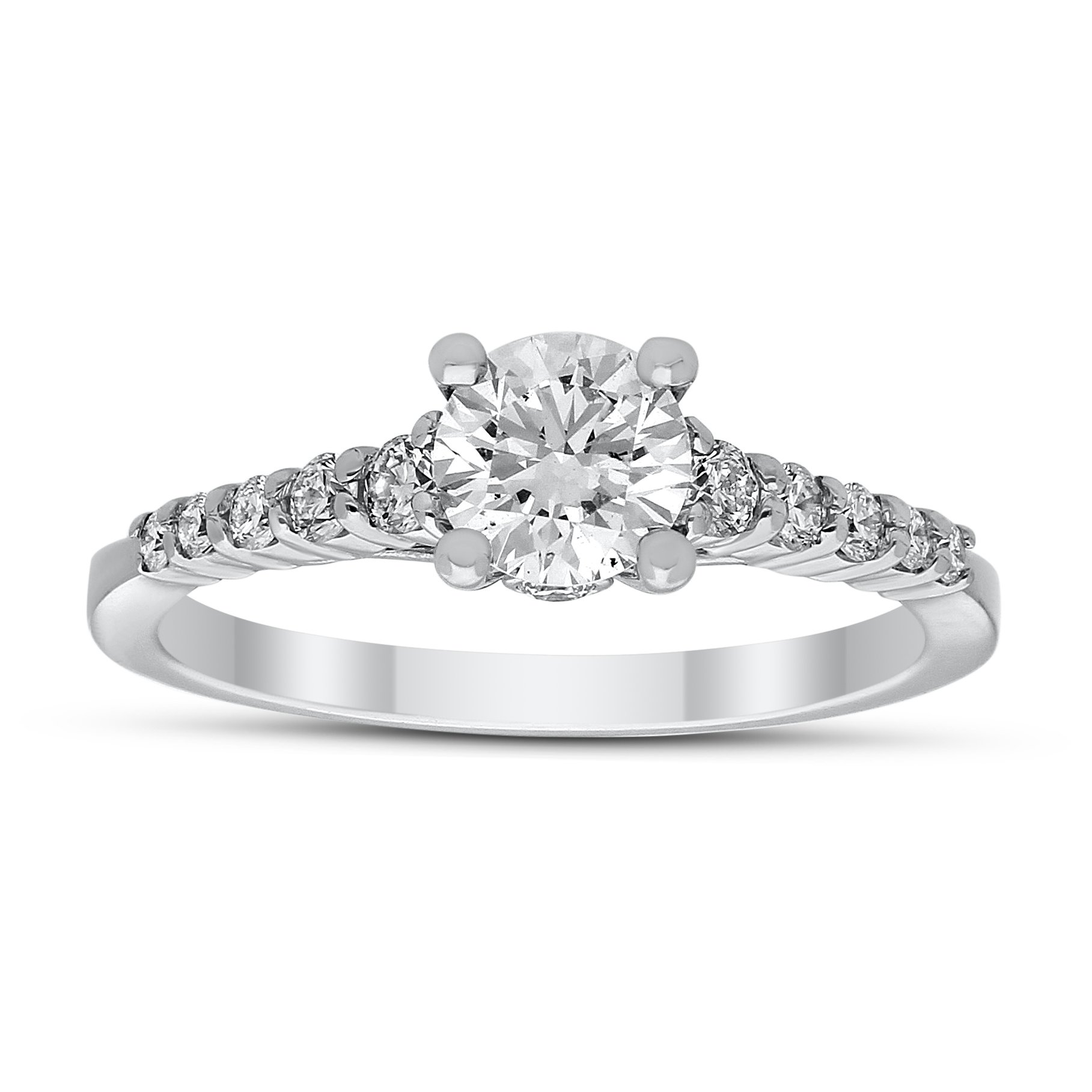 Gaia Diamond Ring in White Gold - madeinUSAdiamonds