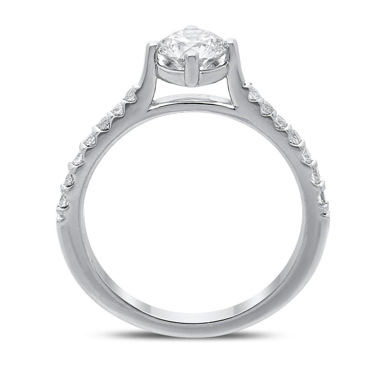 Alana Diamond Ring in White Gold - madeinUSAdiamonds
