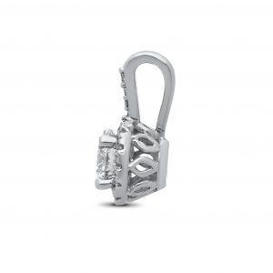 Sophia Diamond Pendant in White Gold - madeinUSAdiamonds