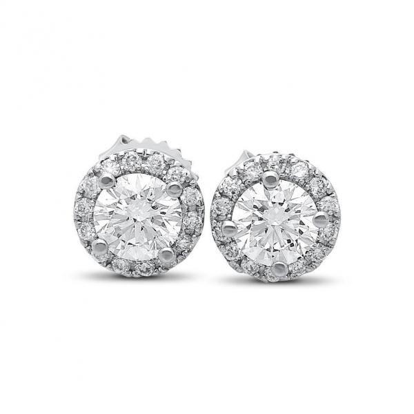 Sophia Diamond Studs in White Gold - madeinUSAdiamonds