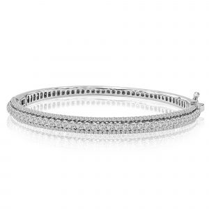 Rhea 5.5 CT Diamond Bracelet in 14K White Gold - madeinUSAdiamonds