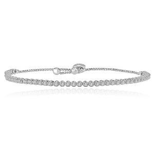 Helle Diamond Bracelet in White Gold - madeinUSAdiamonds