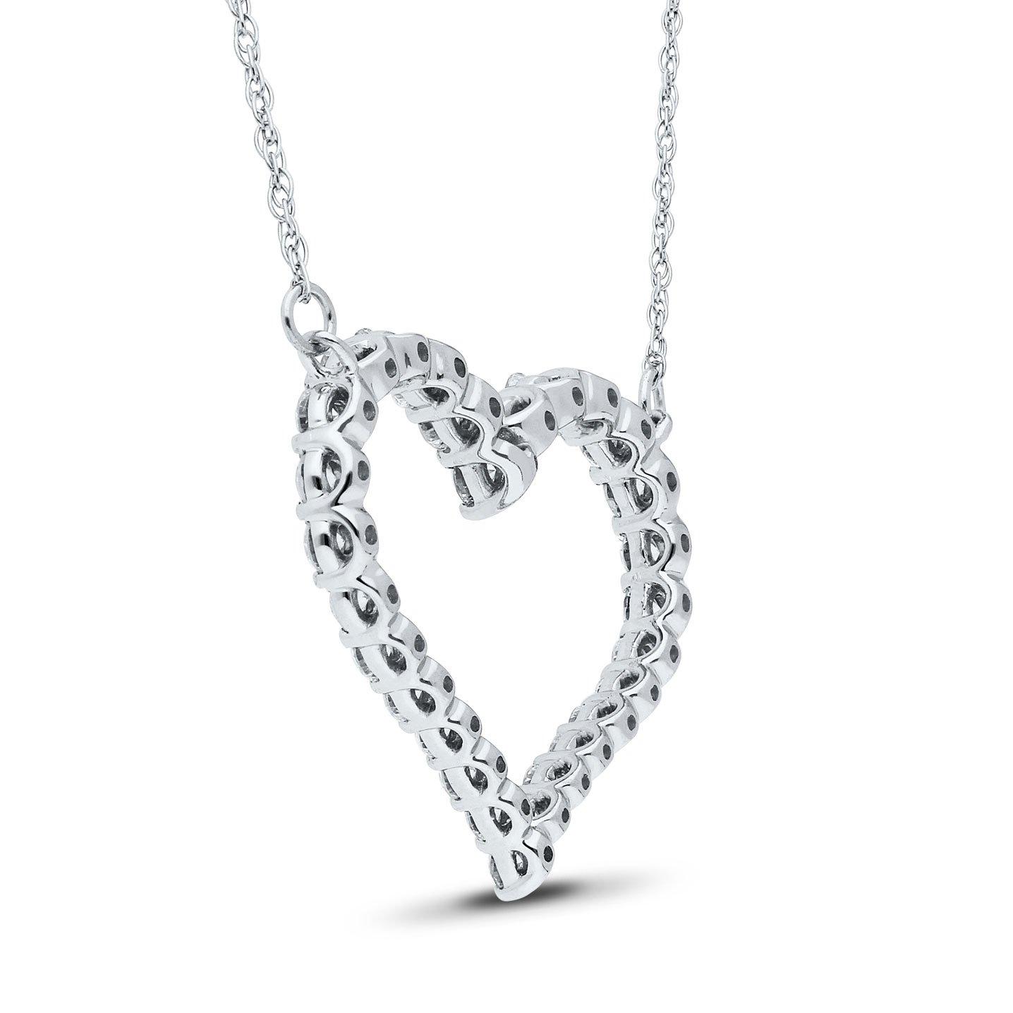 Aisha Diamond Pendant in White Gold - madeinUSAdiamonds