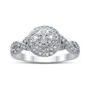 Sophia Diamond Ring in White Gold - madeinUSAdiamonds
