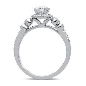 Ostara Diamond Ring in White Gold - madeinUSAdiamonds