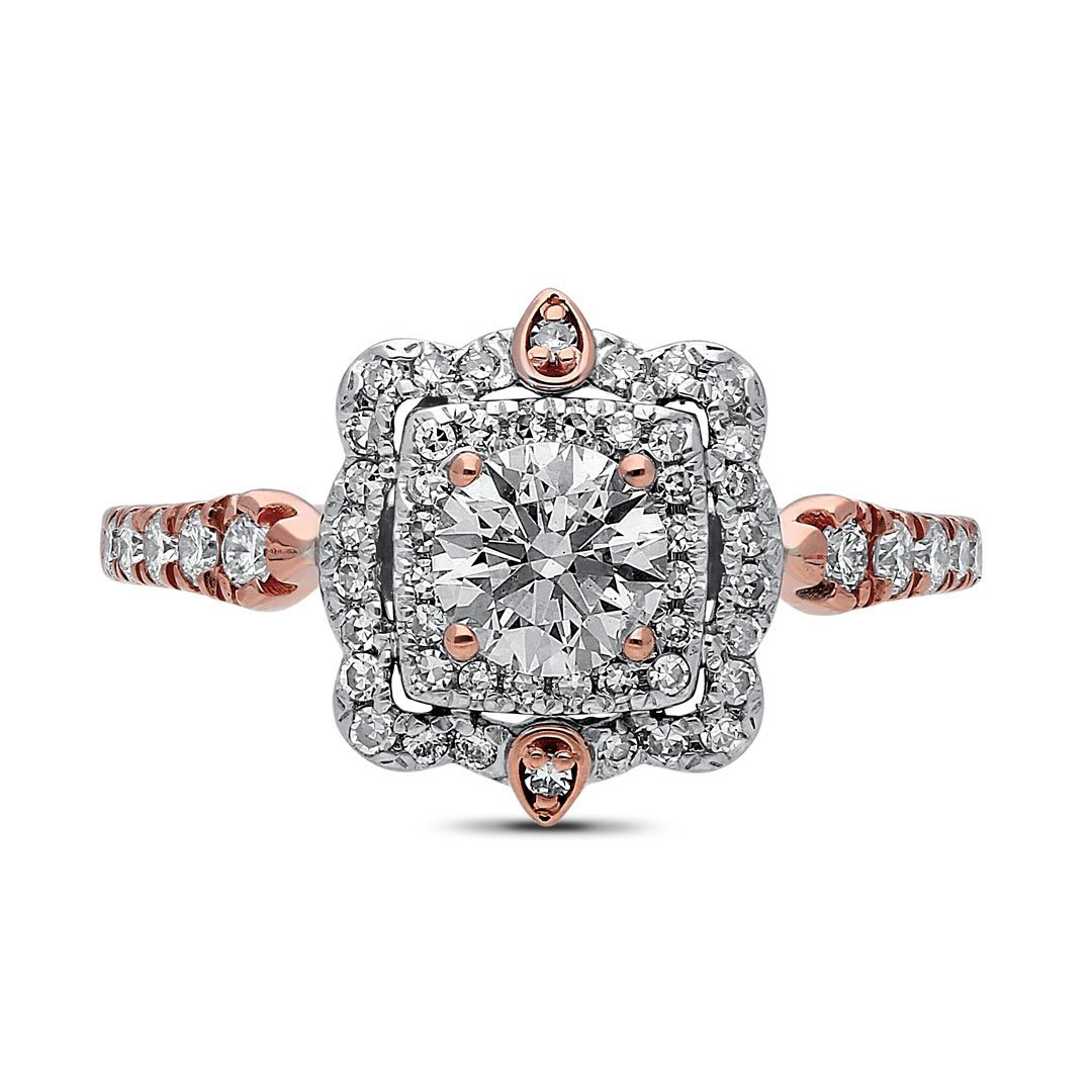 Medina Diamond Ring in Rose Gold - madeinUSAdiamonds