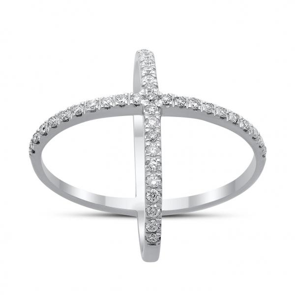 Cosmos Diamond Ring in White Gold - madeinUSAdiamonds